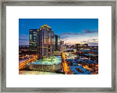 Winter City Wonderland Framed Print by Scott Moore