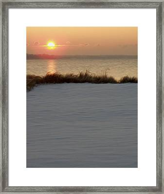Framed Print featuring the digital art Winter Coast by Kelvin Booker
