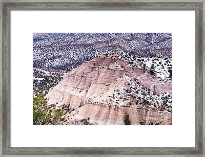 Winter Colors At Kasha Katuwe Tent Rocks Framed Print