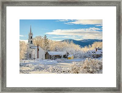 Winter Colors In Tamworth N H Framed Print by Scott Thorp
