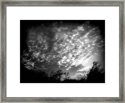 Winter Cool Front Sunset Framed Print by James Granberry