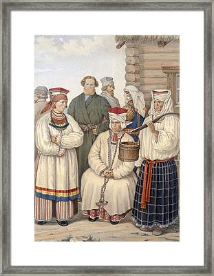 Winter Costume Of A Family Of Notable Framed Print