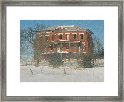 Winter Courthouse Framed Print