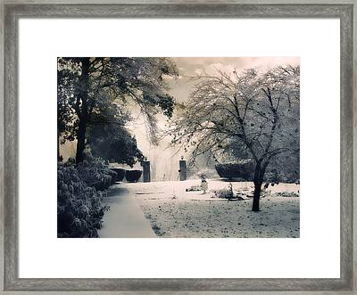 Winter Courtyard Framed Print by Jessica Jenney