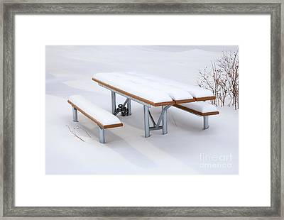 Winter Cover Framed Print by Mike  Dawson