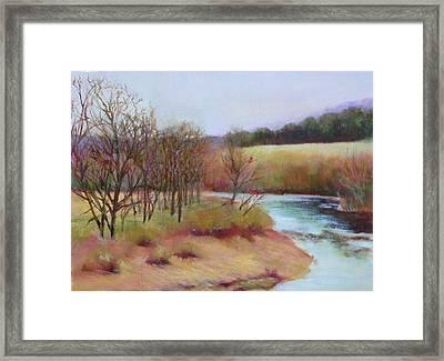 Winter Creek                  Copyrighted Framed Print by Kathleen Hoekstra