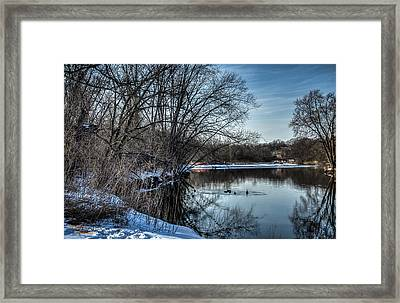 Winter Creek 2 Framed Print by Dan Crosby
