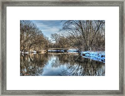 Winter Creek Framed Print by Dan Crosby