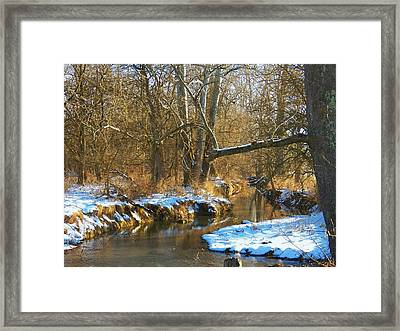 Winter Creek Framed Print by Joyce Kimble Smith