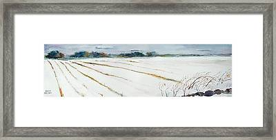 Winter Crop Framed Print