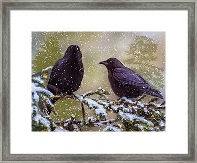 Winter Crows Framed Print by Ken Morris
