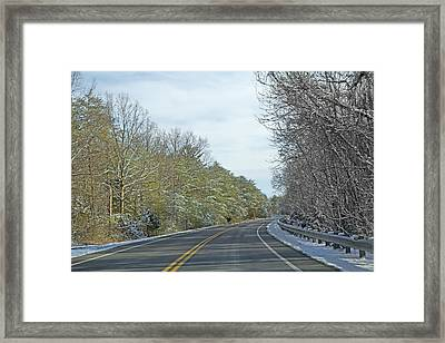 Winter Cruise Framed Print