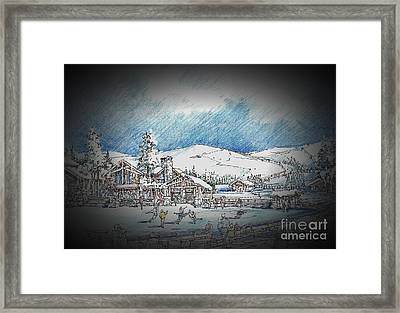 Winter Dance Framed Print by Andrew Drozdowicz