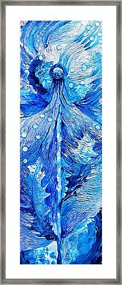 Winter Dandelion As Silent Ceremonial Rattle Of The Spirit Framed Print