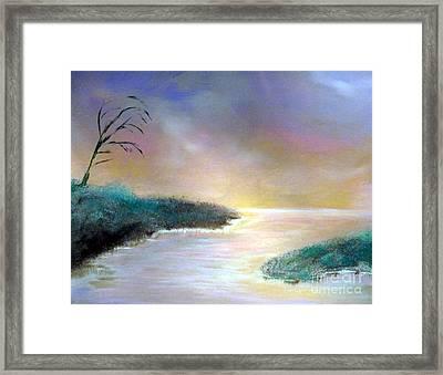 Winter Dawn 1 Framed Print by Alys Caviness-Gober