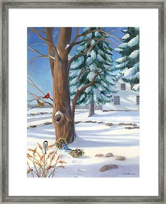Winter Day Framed Print by Janet  Zeh