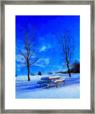 Winter Day On Canvas Framed Print by Dan Sproul
