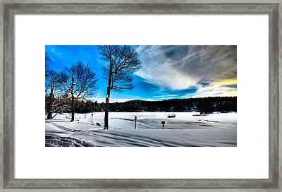 Winter Day On Old Forge Pond Framed Print