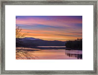Winter Daybreak At Ocoee Lake Framed Print by Paul Herrmann