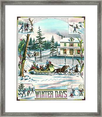 Winter Days 1881 Framed Print