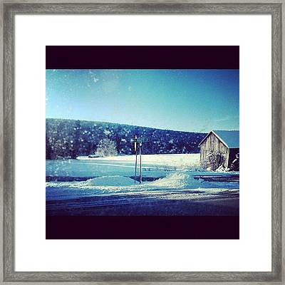 Winter Days Framed Print