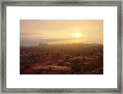 Winter Desert Glow Framed Print by Chad Dutson