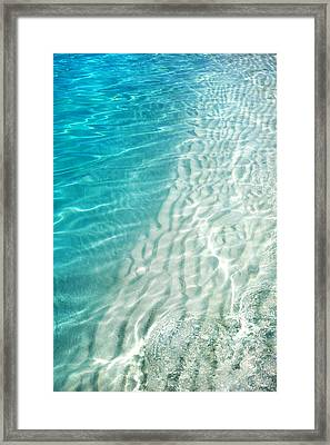 Winter Desire. Water Meditation. Five Elements. Healing With Feng Shui And Color Therapy In Interior Framed Print by Jenny Rainbow