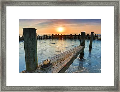 Winter Docks Framed Print