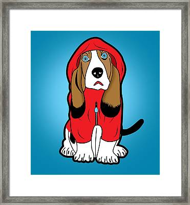 Winter Dog  Framed Print