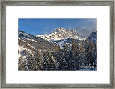 Winter Dolomites Framed Print by Martin Capek