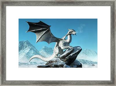 Winter Dragon Framed Print by Daniel Eskridge