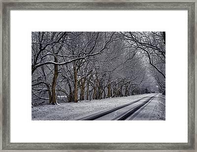 Winter Drive Framed Print