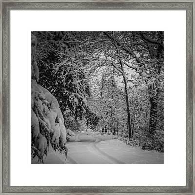 Winter Drive Framed Print by Joe Scott
