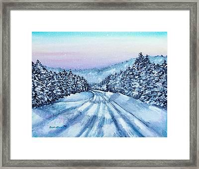 Winter Drive Framed Print by Shana Rowe Jackson