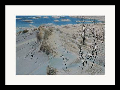 Indiana Winters Drawings Framed Prints