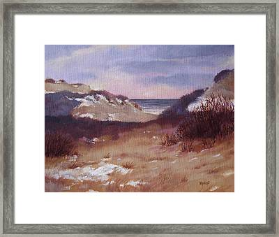 Winter Dunes Framed Print