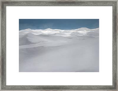 Winter Dunes Framed Print by Leland D Howard