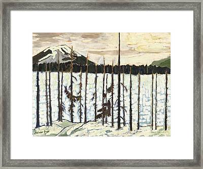 Winter Dusk Framed Print by David Dossett