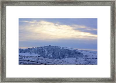 Winter Dusk Near Buxton Framed Print by David Birchall