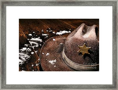 Winter Duty Framed Print