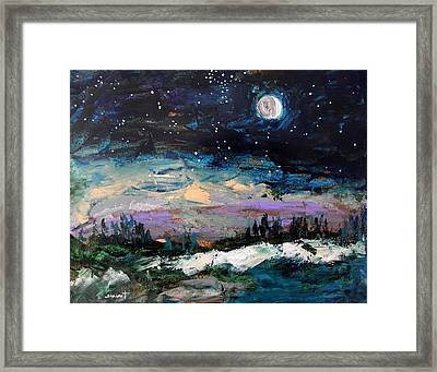 Winter Eclipse Framed Print by John Williams