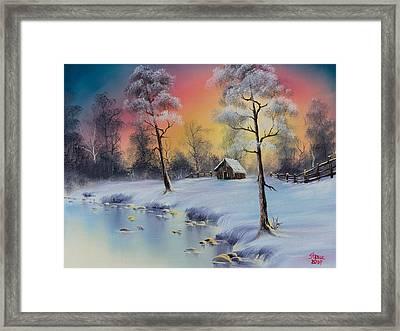 Winter's Grace Framed Print by C Steele