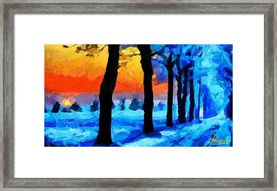Winter Escape Tnm Framed Print by Vincent DiNovici
