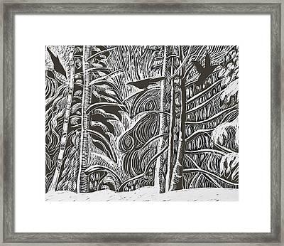 Winter Etching Framed Print
