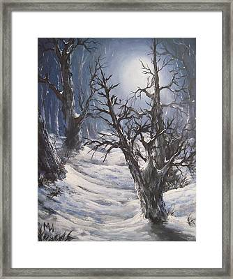 Framed Print featuring the painting Winter Eve by Megan Walsh