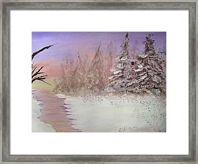 Winter Evening Horizontal Framed Print
