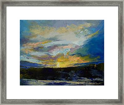 Winter Sunset Framed Print by Michael Creese