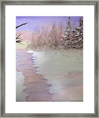 Winter Evening Vertical Framed Print