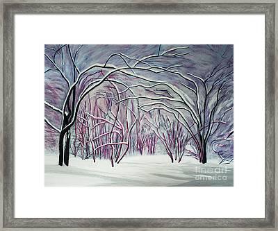 Winter Fairies Framed Print by Barbara McMahon