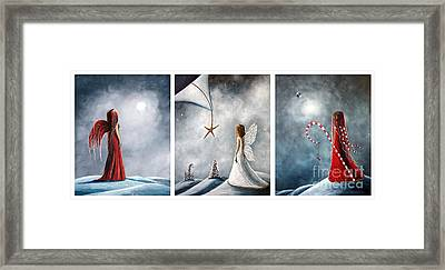 Winter Fairies By Shawna Erback Framed Print by Shawna Erback